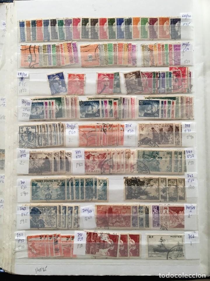 Sellos: FRANCIA, Gran Stock de sellos y series completas en usado, ( Valor en catalogo ++6000€) - Foto 13 - 207874460