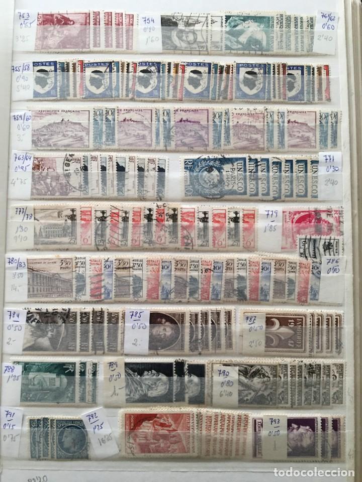 Sellos: FRANCIA, Gran Stock de sellos y series completas en usado, ( Valor en catalogo ++6000€) - Foto 14 - 207874460