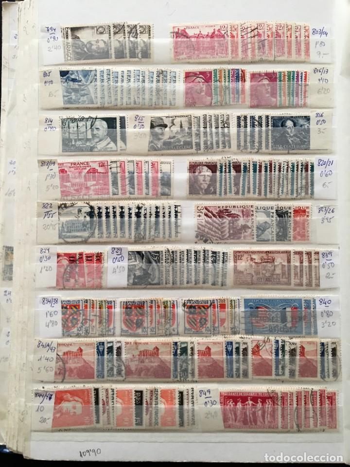 Sellos: FRANCIA, Gran Stock de sellos y series completas en usado, ( Valor en catalogo ++6000€) - Foto 15 - 207874460