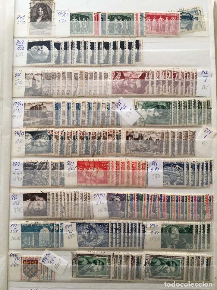 Sellos: FRANCIA, Gran Stock de sellos y series completas en usado, ( Valor en catalogo ++6000€) - Foto 16 - 207874460
