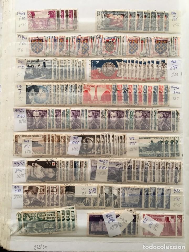 Sellos: FRANCIA, Gran Stock de sellos y series completas en usado, ( Valor en catalogo ++6000€) - Foto 17 - 207874460