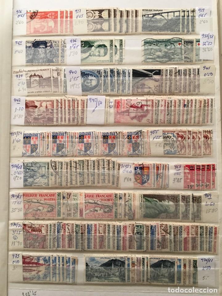 Sellos: FRANCIA, Gran Stock de sellos y series completas en usado, ( Valor en catalogo ++6000€) - Foto 18 - 207874460