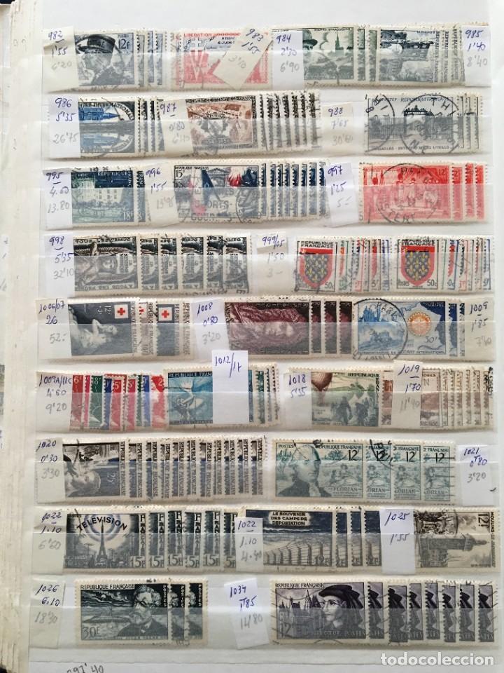 Sellos: FRANCIA, Gran Stock de sellos y series completas en usado, ( Valor en catalogo ++6000€) - Foto 19 - 207874460