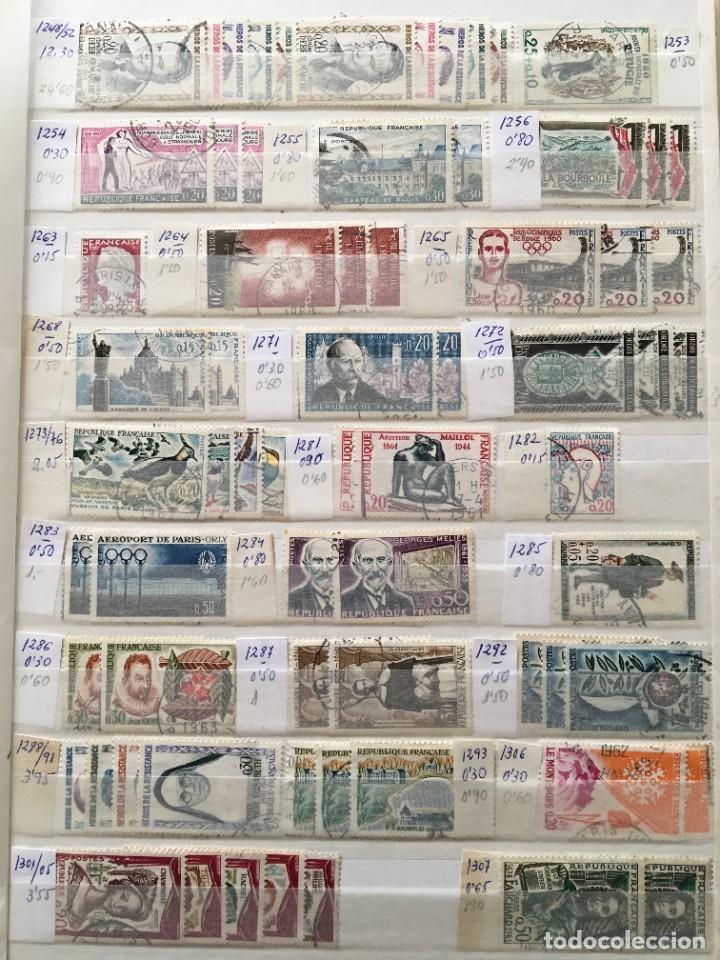 Sellos: FRANCIA, Gran Stock de sellos y series completas en usado, ( Valor en catalogo ++6000€) - Foto 24 - 207874460