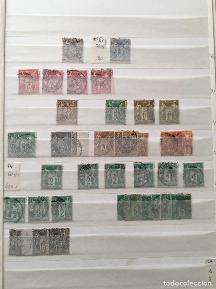 Sellos: FRANCIA, Gran Stock de sellos y series completas en usado, ( Valor en catalogo ++6000€) - Foto 42 - 207874460