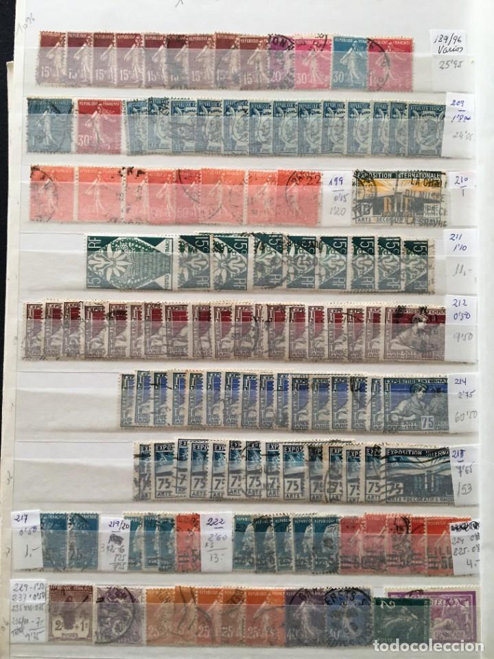 Sellos: FRANCIA, Gran Stock de sellos y series completas en usado, ( Valor en catalogo ++6000€) - Foto 44 - 207874460