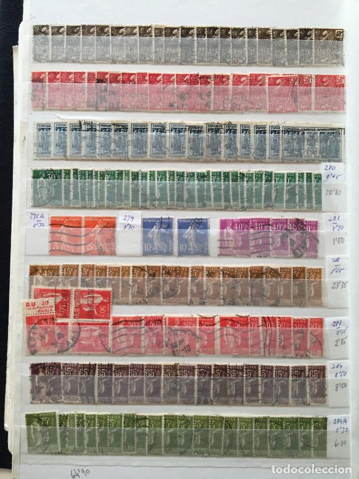 Sellos: FRANCIA, Gran Stock de sellos y series completas en usado, ( Valor en catalogo ++6000€) - Foto 46 - 207874460