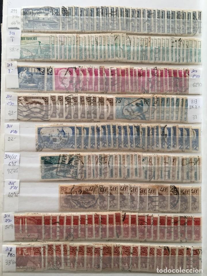 Sellos: FRANCIA, Gran Stock de sellos y series completas en usado, ( Valor en catalogo ++6000€) - Foto 48 - 207874460