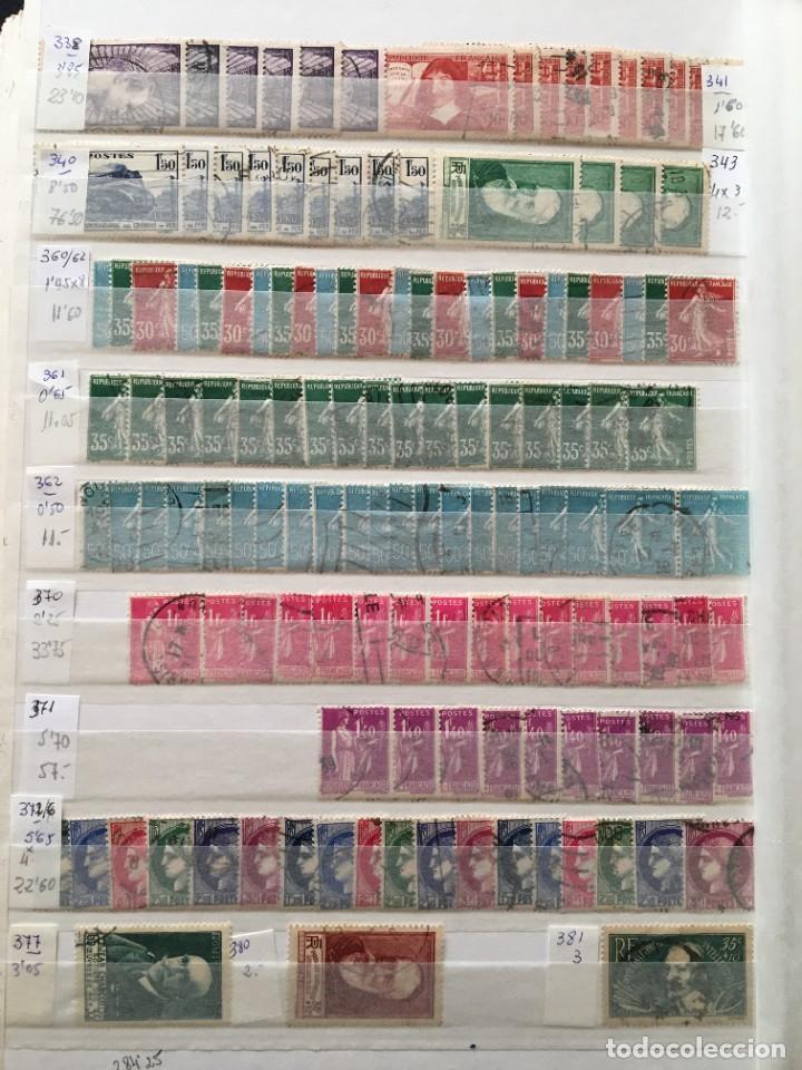 Sellos: FRANCIA, Gran Stock de sellos y series completas en usado, ( Valor en catalogo ++6000€) - Foto 50 - 207874460