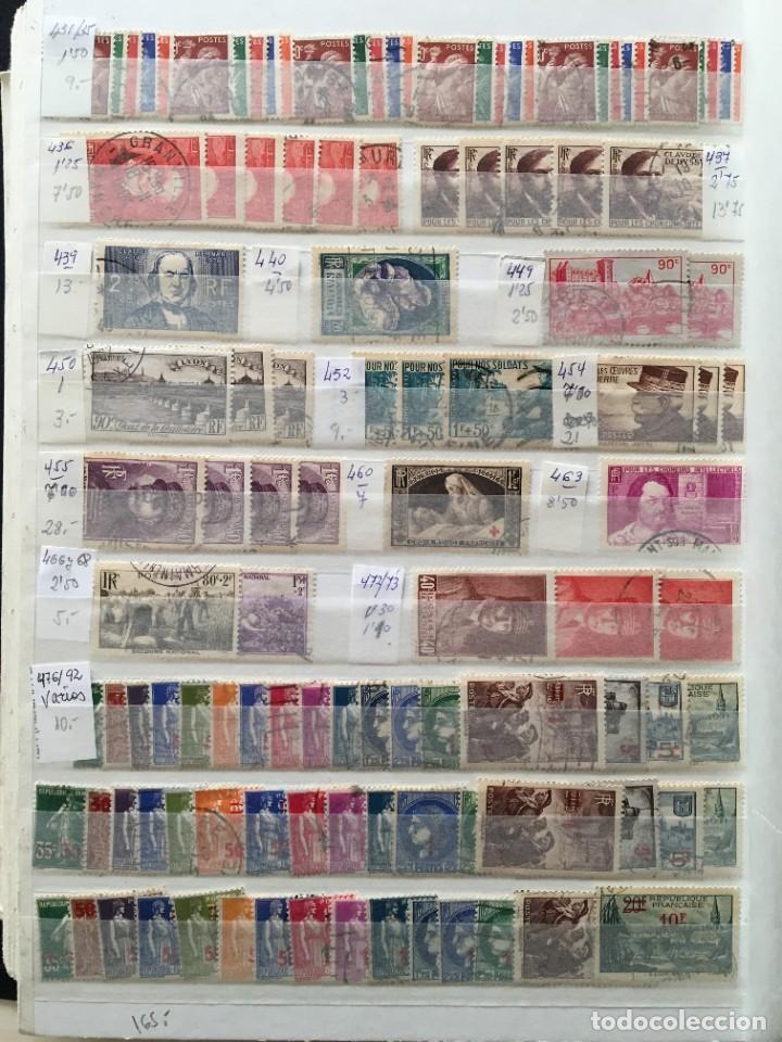 Sellos: FRANCIA, Gran Stock de sellos y series completas en usado, ( Valor en catalogo ++6000€) - Foto 52 - 207874460