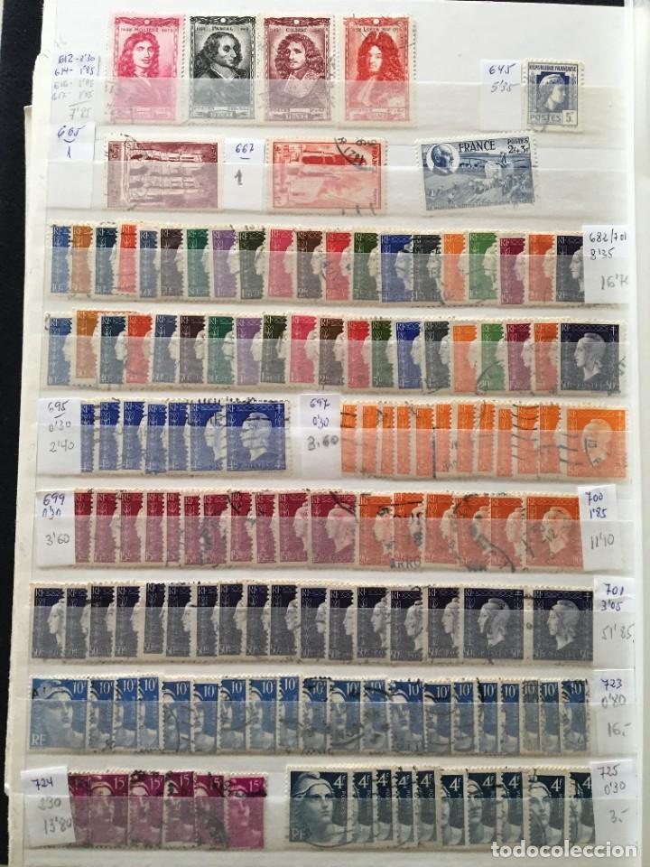 Sellos: FRANCIA, Gran Stock de sellos y series completas en usado, ( Valor en catalogo ++6000€) - Foto 54 - 207874460