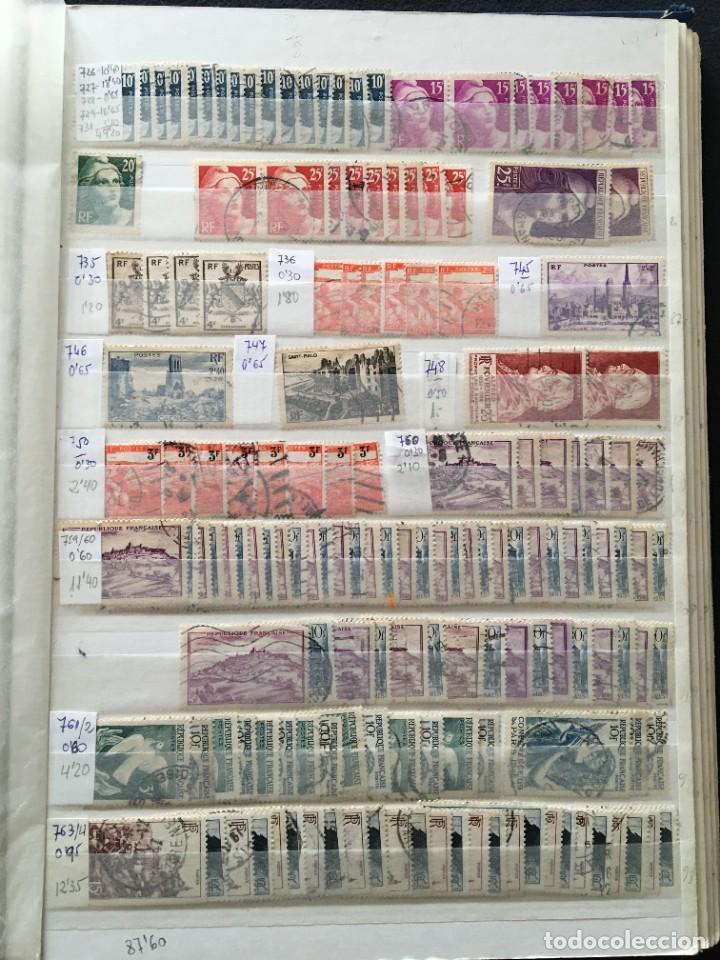 Sellos: FRANCIA, Gran Stock de sellos y series completas en usado, ( Valor en catalogo ++6000€) - Foto 55 - 207874460