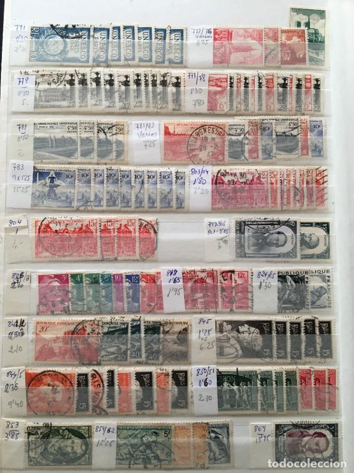 Sellos: FRANCIA, Gran Stock de sellos y series completas en usado, ( Valor en catalogo ++6000€) - Foto 56 - 207874460