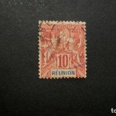 Sellos: /01.07/-REUNION / COLONIA FRANCESA-1892-10 C. Y&T 36 EN USADO/º/. Lote 210135520