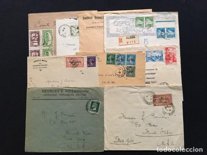COLONIAS FRANCESAS, LOTE DE 10 CARTAS, ARGELIA, MARRUECOS, LÍBANO (Sellos - Extranjero - Europa - Francia)