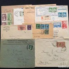 Sellos: COLONIAS FRANCESAS, LOTE DE 10 CARTAS, ARGELIA, MARRUECOS, LÍBANO. Lote 210340392