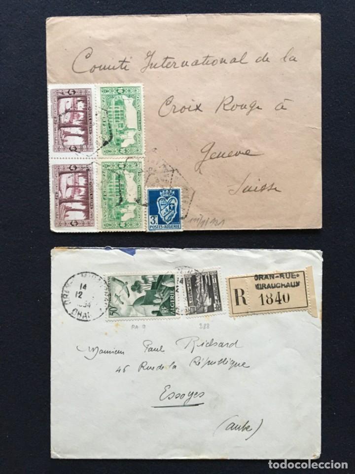 Sellos: COLONIAS FRANCESAS, Lote de 10 Cartas, Argelia, Marruecos, Líbano - Foto 2 - 210340392