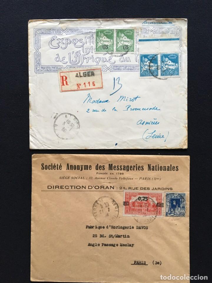 Sellos: COLONIAS FRANCESAS, Lote de 10 Cartas, Argelia, Marruecos, Líbano - Foto 3 - 210340392