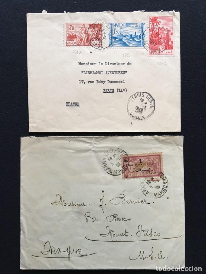 Sellos: COLONIAS FRANCESAS, Lote de 10 Cartas, Argelia, Marruecos, Líbano - Foto 5 - 210340392