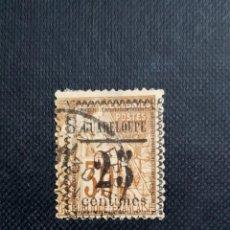 Sellos: ANTIGUO SELLO DE FRANCIA 1889 DE GUADALOUPE, SOBRECARGA 25C. Lote 212528287