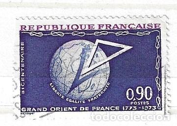 1973-FRANCIA.BICENTENARIO DE GRAN ORIENT DE FANCIA. MAONERÍA (Sellos - Extranjero - Europa - Francia)