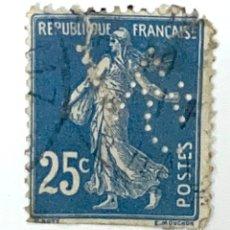 Sellos: SELLO FRANCIA 25 CENTIMOS AZUL OSCURO 1906-1920 SOWER. Lote 215048700