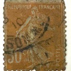 Sellos: SELLO FRANCIA 1996-1920 SOWER . 30 CENTIMOS MARRON ANARANJADO. Lote 215048733
