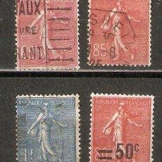 Timbres: FRANCIA.1924-32. SEMEUSE. YT 201,204,205,220. Lote 215638513