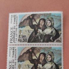Sellos: SELLOS FRANCE JOURNEE DU TIMBRE AÑO 1981 DOS SELLOS NUEVOS. Lote 216707087
