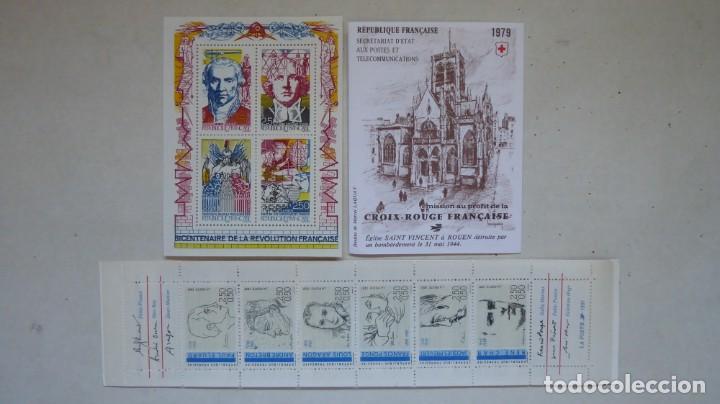 Sellos: francia tres piezas carnet cruz roja 7 personajes y hoja revolucion, sin charnelas9 - Foto 2 - 216785548
