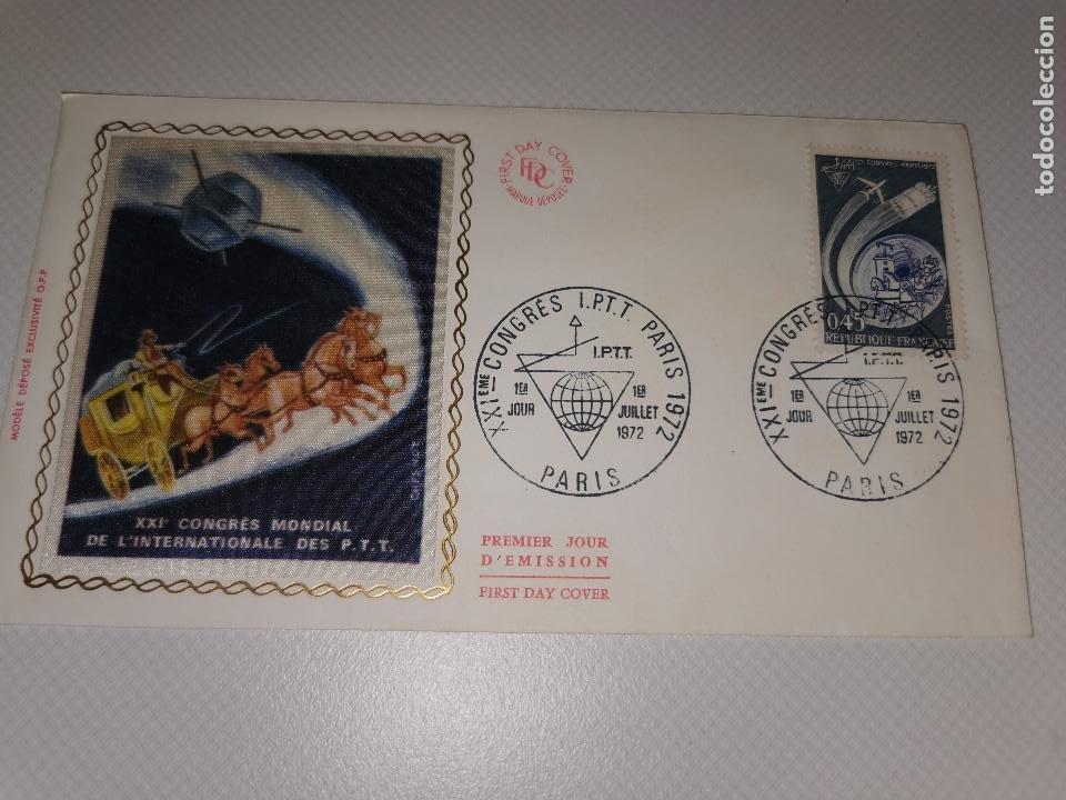 SOBRE PRIMER DIA - FRANCIA - FRANCE, 1972, 1° DAY CONGRES IPTT PARIS (Sellos - Extranjero - Europa - Francia)