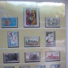 Sellos: ALBUN LINDNER SELLOS DE FRANCIA EN FILOESTUCHES TRANSPARENTE AÑOS 1981 A 89. Lote 217253402
