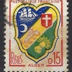 Timbres: FRANCIA 1960 - ESCUDO DE ARMAS DE LA CIUDAD DE ARGEL, ARGELIA - USADO. Lote 217357761