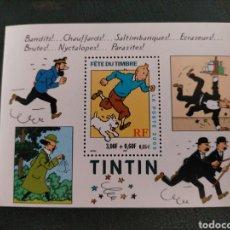 Sellos: TINTIN SELLOS - HOJA FRANCIA 2000. Lote 263112120