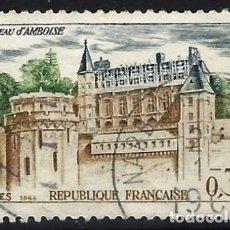 Timbres: FRANCIA 1963 - TURISMO, VISTA DEL CASTILLO DE AMBOISE - USADO. Lote 217404598
