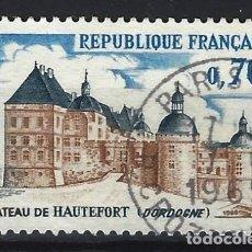 Timbres: FRANCIA 1969 - CASTILLO DE HAUTEFORT, DORDOGNE - USADO. Lote 217476122