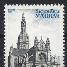 Timbres: FRANCIA 1981 - IGLESIA DE SANTA ANA, AURAY - MNH**. Lote 217891446