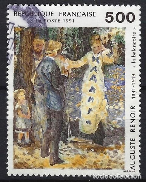 FRANCIA 1991 - PINTURA, EL COLUMPIO DE AUGUSTE RENOIR - USADO (Sellos - Extranjero - Europa - Francia)