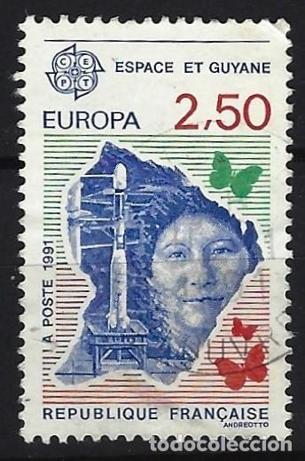 FRANCIA 1991 - EUROPA, ESPACIO Y GUAYANA - USADO (Sellos - Extranjero - Europa - Francia)