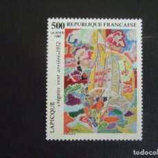 Sellos: FRANCIA Nº YVERT 2606*** AÑO 1989. PINTURA DE LAPICQUE. Lote 218253063