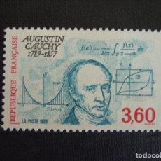 Sellos: FRANCIA Nº YVERT 2610*** AÑO 1989. BICENTENARIO NACIMIENTO MATEMATICO A. CAUCHY. Lote 218645375