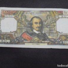 Sellos: BILLETE. BANCO DE FRANCIA. 100 FRANCOS. 1964. VER FOTOS. Lote 219385873