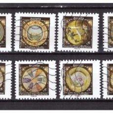 Selos: SERIE PLATOS DE CERÁMICA FRANCIA SELLOS ADHESIVOS 2019 YVERT 1777/88. Lote 221228458