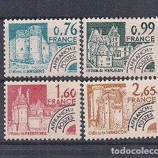 "Sellos: SELLOS DE FRANCIA AÑO 1980 PROBLITERADOS ""MONUMENTOS HISTÓR."" SERIE Nº 166/169 NUEVOS CATÁLOGO YVERT. Lote 221318430"