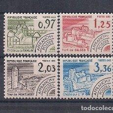 """Sellos: SELLOS DE FRANCIA AÑO 1982 PROBLITERADO """"MONUMENTOS HISTÓR."""" SERIE Nº 174/177 NUEVOS CATÁLOGO YVERT. Lote 221319550"""