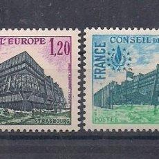 Sellos: SELLOS DE FRANCIA AÑO 1978 SERVICIOS. CONSEJO DE EUROPA. SERIE Nº 58/59 NUEVOS CATÁLOGO YVERT. Lote 221320495