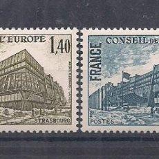 Sellos: SELLOS DE FRANCIA AÑO 1980 SERVICIOS. CONSEJO DE EUROPA. SERIE Nº 63/64 NUEVOS CATÁLOGO YVERT. Lote 221320552