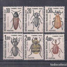 """Sellos: SELLOS DE FRANCIA AÑO 1982 TASAS. INSECTOS """"COLEOPTÉROS"""" SERIE Nº 103/108 NUEVOS CATÁLOGO YVERT. Lote 221321042"""