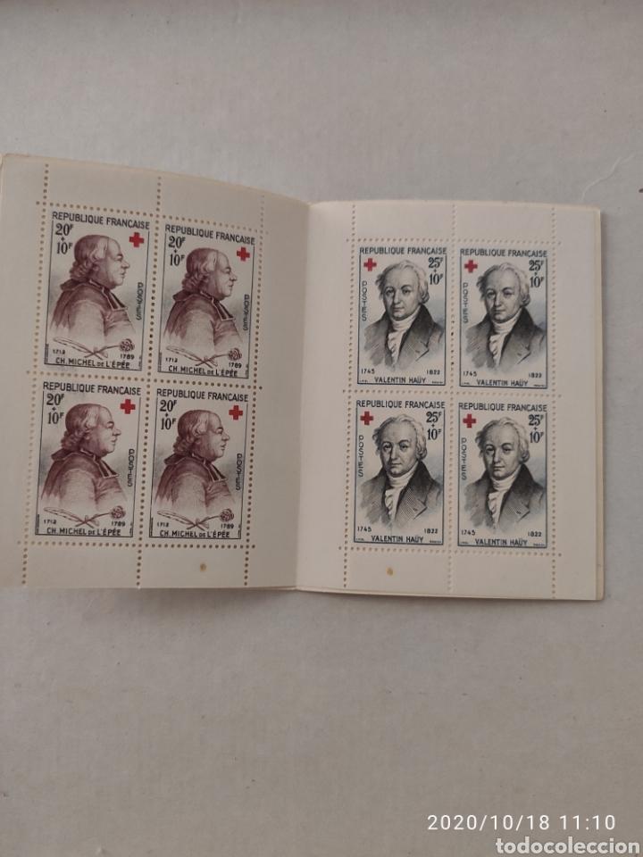 Sellos: Carnet Francia 1959 cruz roja - Foto 2 - 221448852