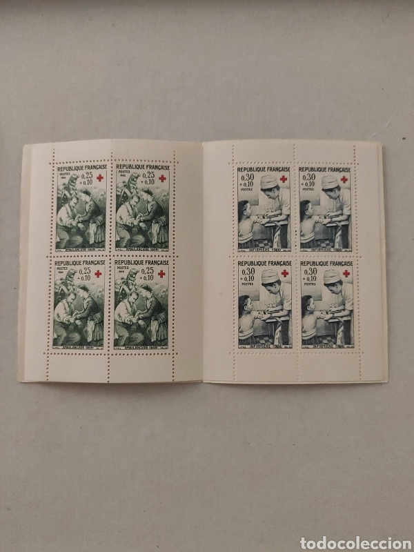Sellos: Carnet Francia cruz roja 1966 nuevo - Foto 2 - 221450383